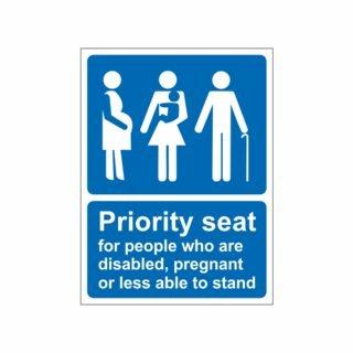 Priority seating in UK